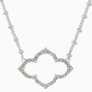 Stella & Dot Silver Pave Arabesque Necklace